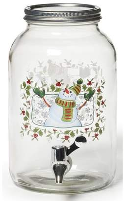Pfaltzgraff Winterberry Snowman Beverage Jar