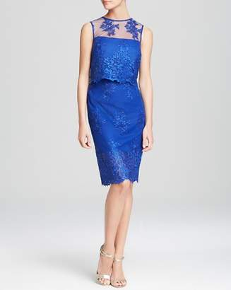 ML Monique Lhuillier Dress - Sleeveless Lace Two-Piece