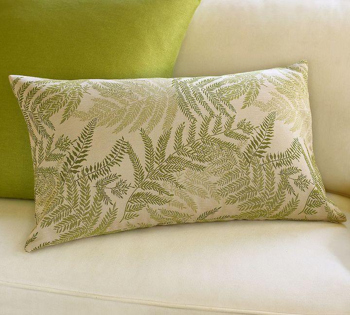 Fern Jacquard Lumbar Pillow Cover