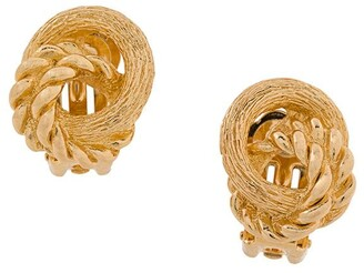 Christian Dior Pre-Owned love knot clip-on earrings