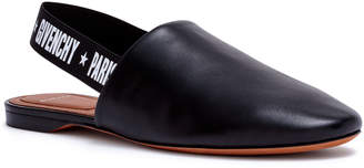 Givenchy Rivington black leather slingback flats