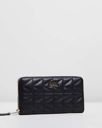 Karl Lagerfeld K/Kuilted Zip Around Wallet