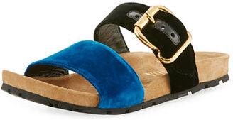 Prada Double-Strap Flat Slide Sandal $620 thestylecure.com