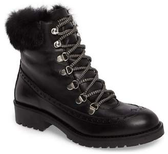 Charles David Ramses Faux Fur Trim Leather Boot