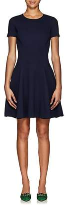 Lisa Perry Women's Wow Compact Knit Fit & Flare Dress - Navy