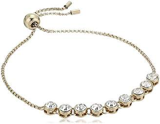 Kenneth Cole New York Delicates Collection Women's Silver and Crystal Slider Bracelet
