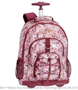 Pottery Barn Teen Gear-Up HARRY POTTER & Magical Damask Rolling Backpack, Burgundy