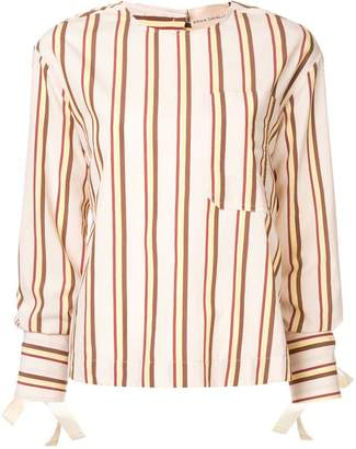 Cavallini Erika striped open back blouse