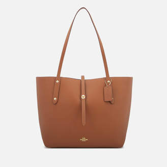 Coach Women's Leather Market Tote Bag - Saddle