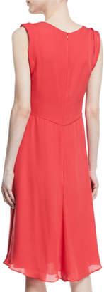 Giorgio Armani Deep-V Sleeveless A-Line Knee-Length Dress