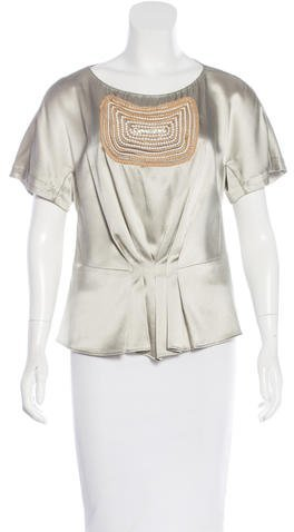 3.1 Phillip Lim 3.1 Phillip Lim Embellished Satin Top