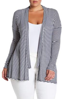 Susina Open Knit Cardigan (Plus Size)