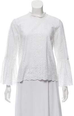 Ulla Johnson Embroidered Long Sleeve Blouse