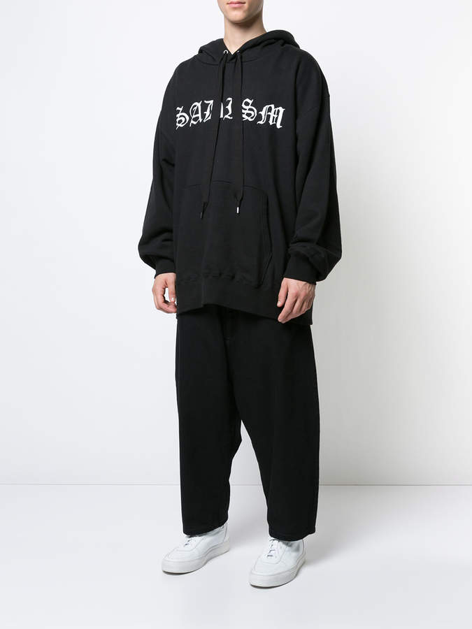 Kidill printed long-line hoodie