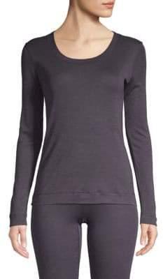 Hanro Long-Sleeve Silk & Cashmere Top