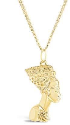 Sterling Forever Egyptian Pharaoh Bust Pendant Necklace