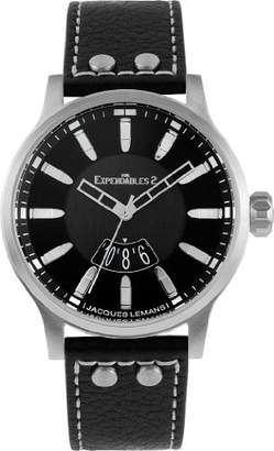 Jacques Lemans 'The Expendables 2' Quartz Stainless Steel and Leather Casual Watch