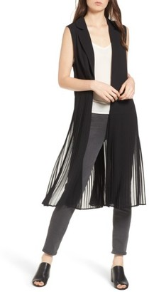 Women's Trouve Sleeveless Pleated Vest $79 thestylecure.com