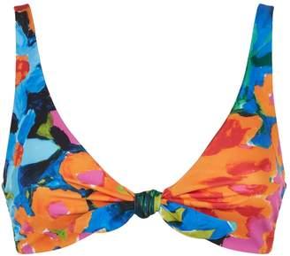 Mara Hoffman Carla Tie Front Bikini Top
