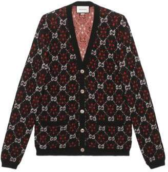 Gucci GG diamond wool cardigan