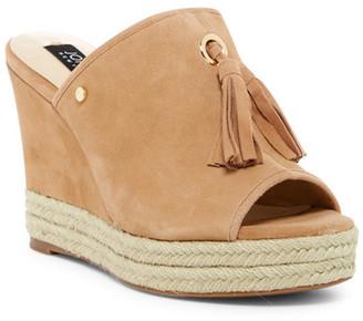 Jones New York Ariel Tassel Platform Wedge Sandal $119 thestylecure.com