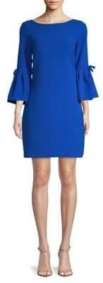 Eliza J Boatneck Bell-Sleeve Shift Dress