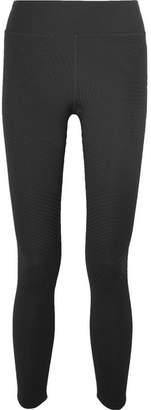 Nike Power Epic Lux Ribbed Dri-fit Stretch Leggings - Black