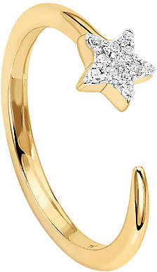 Missoma 18ct Gold Vermeil Cosmic Nova Pave Star Ring, Gold