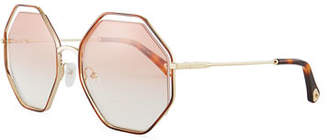 Chloé Poppy Geometric Sunglasses