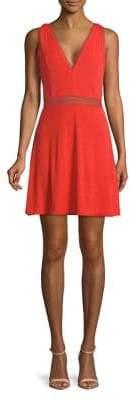 Free People V-Neck Fit-&-Flare Mini Dress