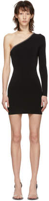 Alexander Wang Black Asymmetric Ball Chain Dress