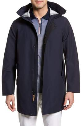 Cole Haan Bonded Cotton Blend Rain Jacket