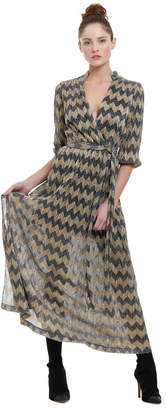 Alice + Olivia Katina Metallic Midi Dress