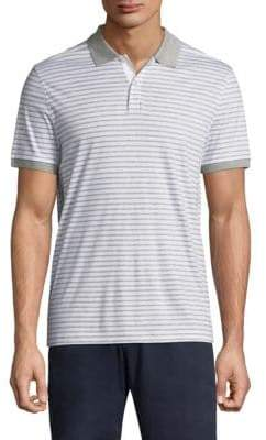Michael Kors Stripe Interlock Polo