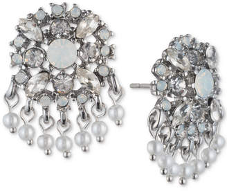 Marchesa Crystal & Bead Cluster Button Earrings