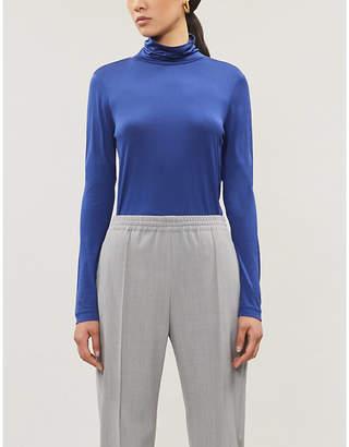 Joseph Relaxed-fit turtleneck silk-jersey top