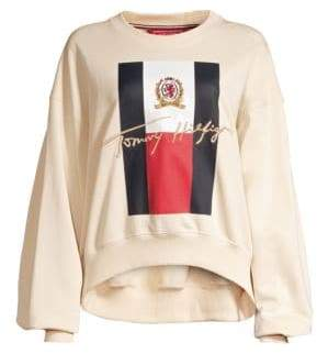 Tommy Hilfiger Tommy Oversized Sleeve College Sweater