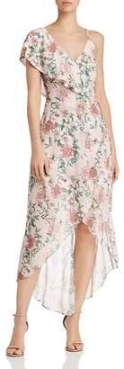 Adelyn Rae Hannah Asymmetric Floral-Print Dress
