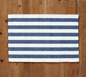Pottery Barn Raney Bold Stripe Placemat, Set of 4 - Navy