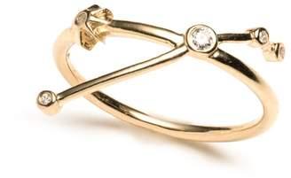 Lulu Frost Zodiacs 14k & Diamond Aries + Fire Ring
