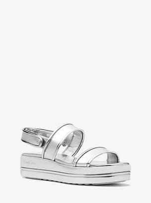 Michael Kors Peggy Metallic Platform Sandal