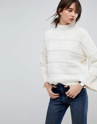 Asos DESIGN Sweater in Fluffy Stripe