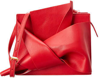 N°21 N21 Abstract Bow Leather Shoulder Bag