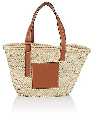 Loewe Women's Leather-Trimmed Straw Tote Bag - Tan