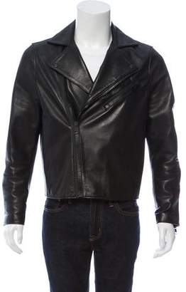 Acne Studios Gibson Clean Leather Biker Jacket