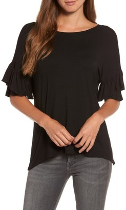 Women's Chelsea28 Ruffle Sleeve Tee $49 thestylecure.com
