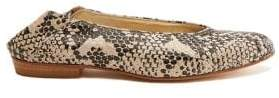 Anne Klein Collection Tillary Snake Print Leather Flats