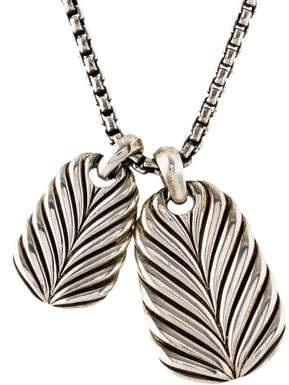 David Yurman Modern Chevron Double Tag Pendant Necklace
