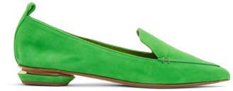 Nicholas Kirkwood Green Suede Beya Loafers