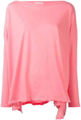 Jucca draped long-sleeve T-shirt $103.90 thestylecure.com